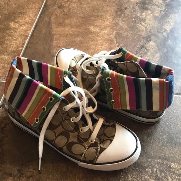 bc3b54a0358f Coach Shoes - Vintage Coach Sneakers Size 9.5